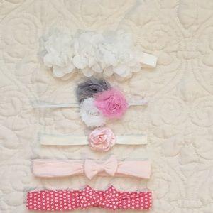 Other - 5 Baby girl headbands